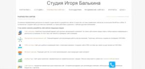 Сайт компании balkin.by